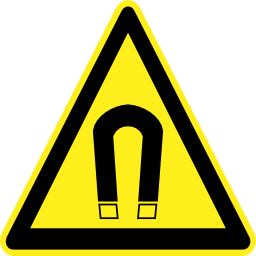 Download free pictogram triangle magnetic magnet risk icon