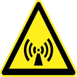 Download free pictogram triangle wave magnetic risk icon