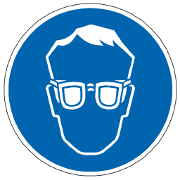 Download free blue pictogram eye protection icon