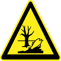 Download free fish pictogram triangle pollution tree risk icon