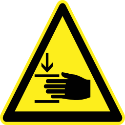 Download free pictogram hand triangle crush risk icon