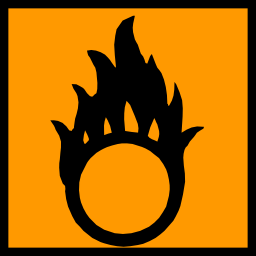 Download free orange pictogram square flame risk icon