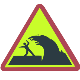 Download free pictogram triangle risk risk wind wave icon