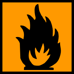 Download free orange pictogram square flame risk risk icon