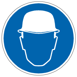 Download free helmet blue pictogram head icon