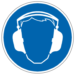 Download free blue pictogram protection ear icon