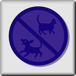 Download free animal cat dog prohibited icon