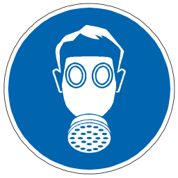 Download free blue pictogram mask gas icon
