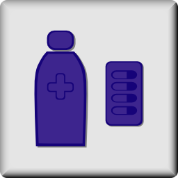 Download free health glass bottle drug icon