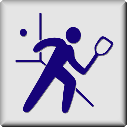 Download free human sport squash racket ball icon
