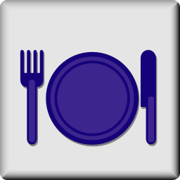 Download free covered plate knife fork icon